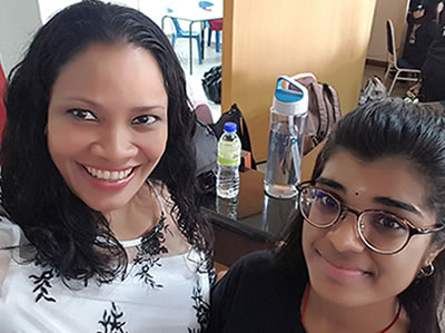 Rowena Morais with Preethina Nagenthiran, TEDx UUM March 2018 curator