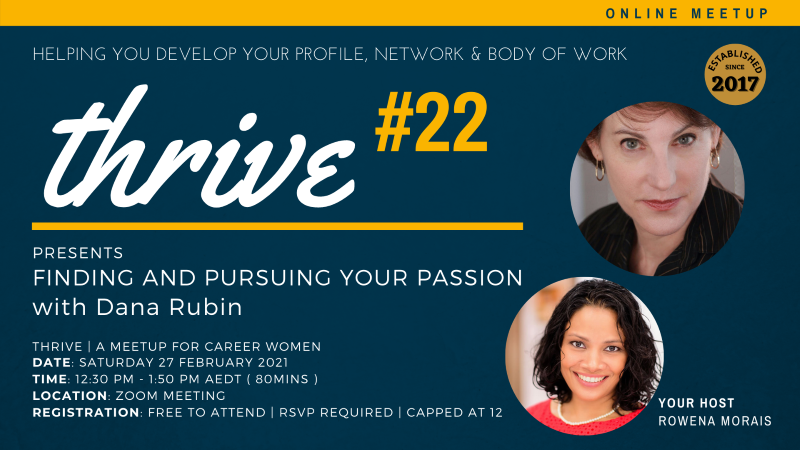 Thrive 22 - Presents Finding + Pursuing Your Passion